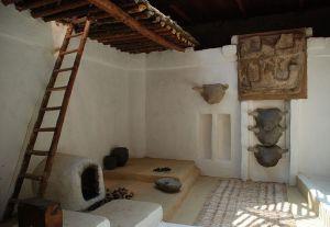 Reconstrucción arquitectónica de estancia del asentamiento de Çatal Höyük. Periodo Calcolítico VII-VI milenio a.c.(Turquía)