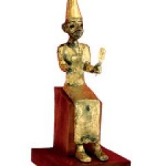 """Representación del dios canaanita El, """"El mas Alto"""". 1400-1200 a.c. Megiddo, Israel. Oriental Institute (Chicago)"""