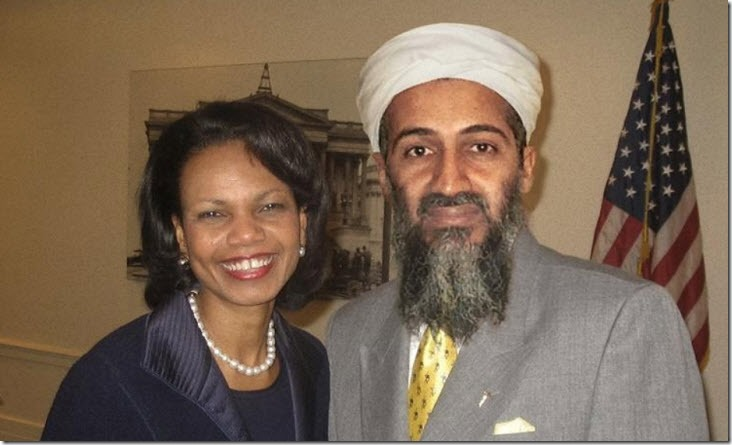 Condoleezza Rice y Osama bin Laden