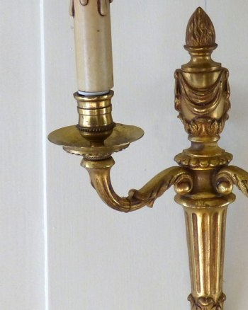 French Louis XVI wall lamps