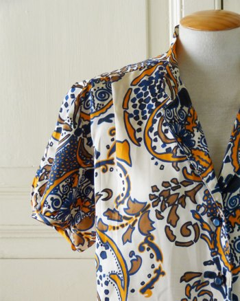 1960s Paysley Printed Blouse