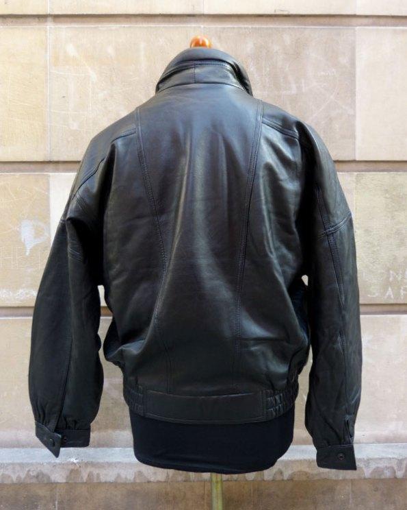 Cazadora 80's de Piel negra para hombre