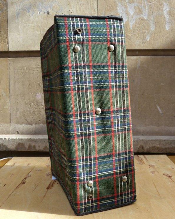 1960s Green tartan Suitcase