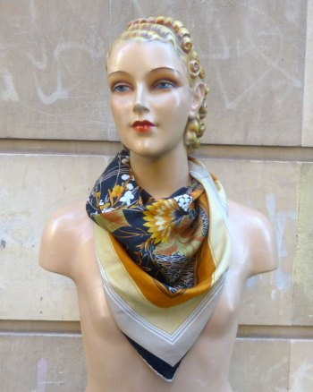 Fisba Stoffels Scarf With Orientalist Printing
