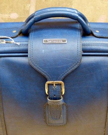 Cobalt Blue Samsonite Suitcase