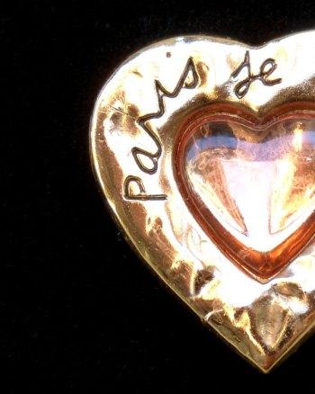 """Broche corazón YSL """"Paris je t'aime"""""""