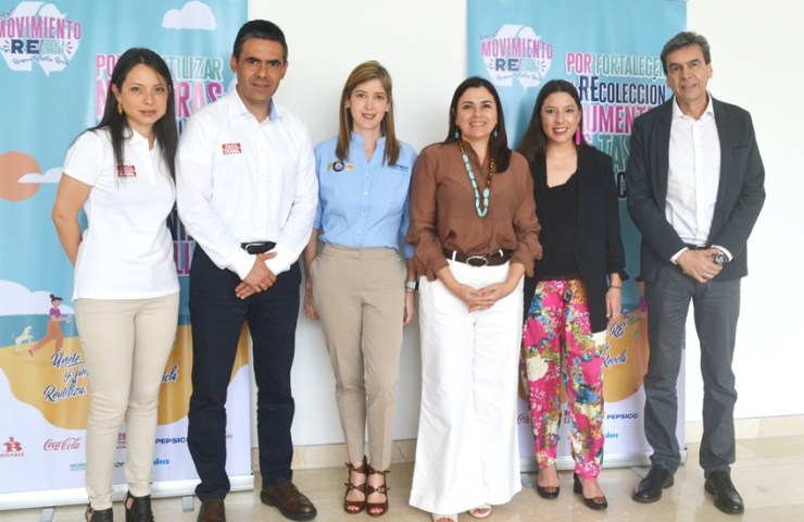 Izq a der, Silvia Barrera, Eduardo Pereira, María Paula Cano, Martha Falla,Carolina García y Alvaro Hincapie