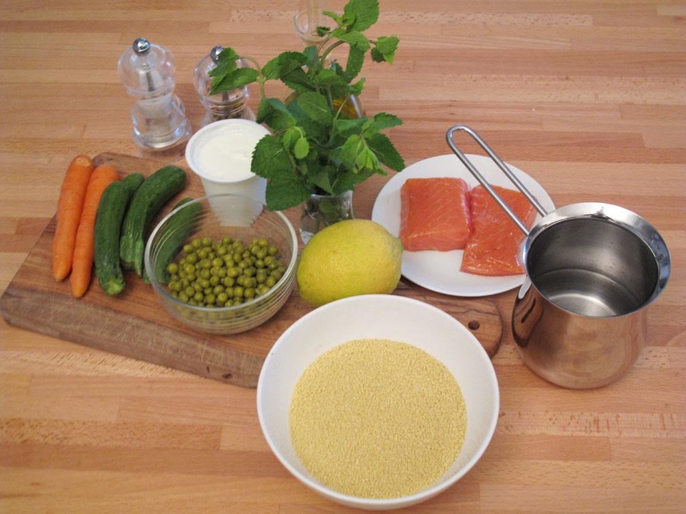 Couscous con tartare di salmone, ingredienti