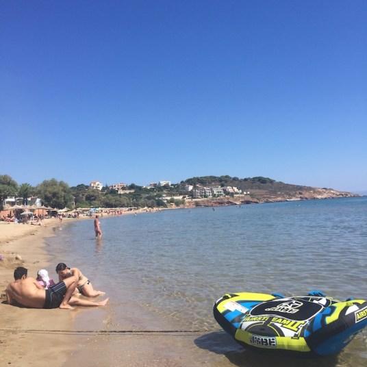 Chios, Karfas, la spiaggia