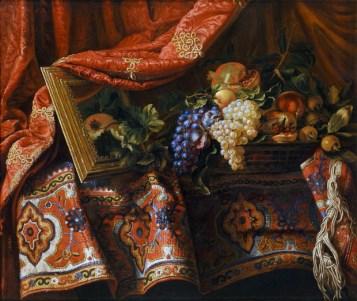 Luciano Ventrone, Ciotola di ceramica con ciliegie, olio su tela