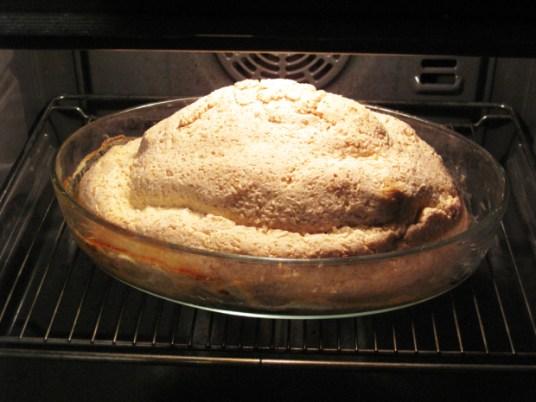 Pollo in crosta con menta e limone, cottura