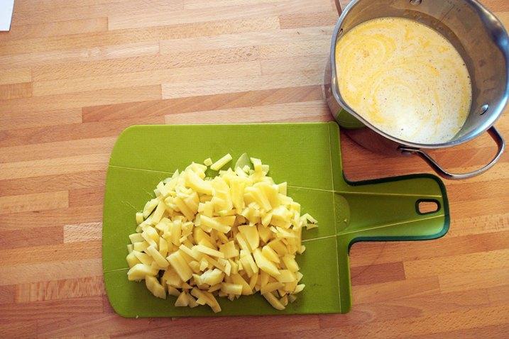 Polpo croccante con crema di patate