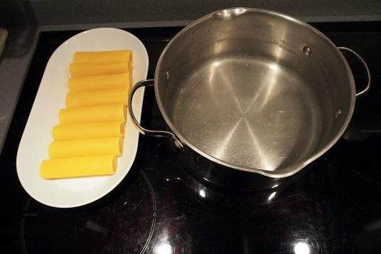 Cannelloni al forno con nasello e gamberi