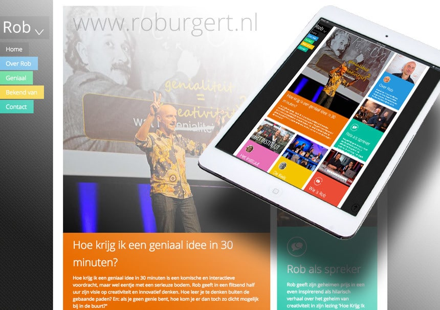 Website Rob Urgert door La Dolce Vita Marketing en webdesign uit Zeeland