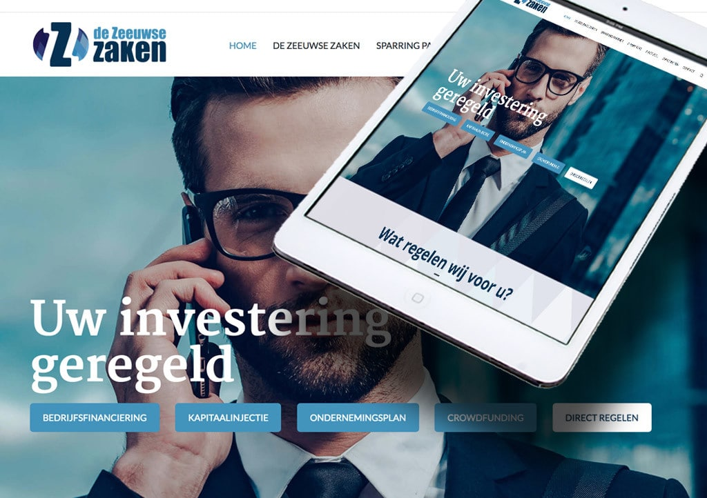 Website De Zeeuwse Zaken door La Dolce Vita Marketing en webdesign uit Zeeland