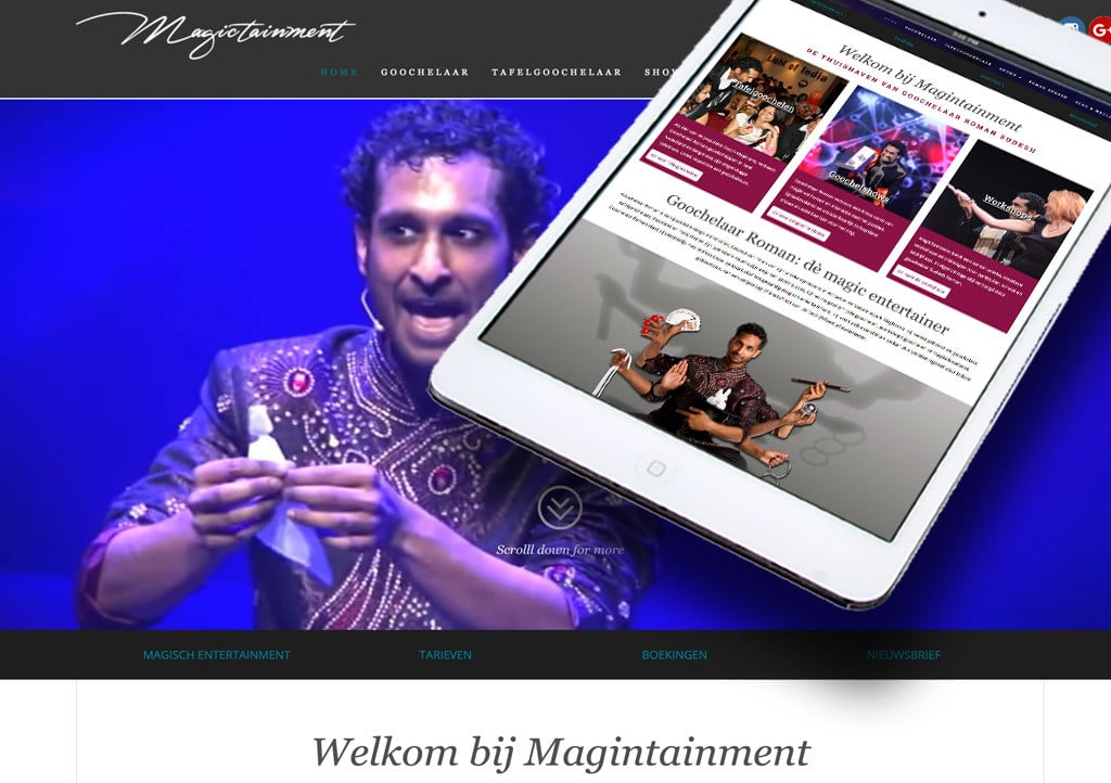 Roman Sudesh – dè magic entertainer – Website