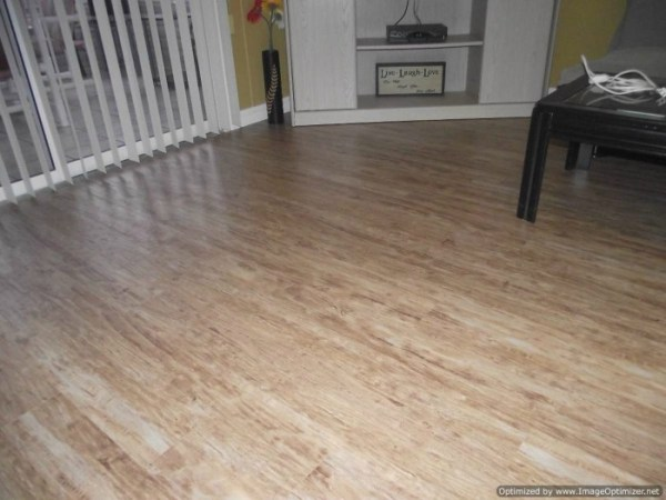 Kensington Manor Dream home Review Kensington Manor Dream Home laminate flooring installed in a living room