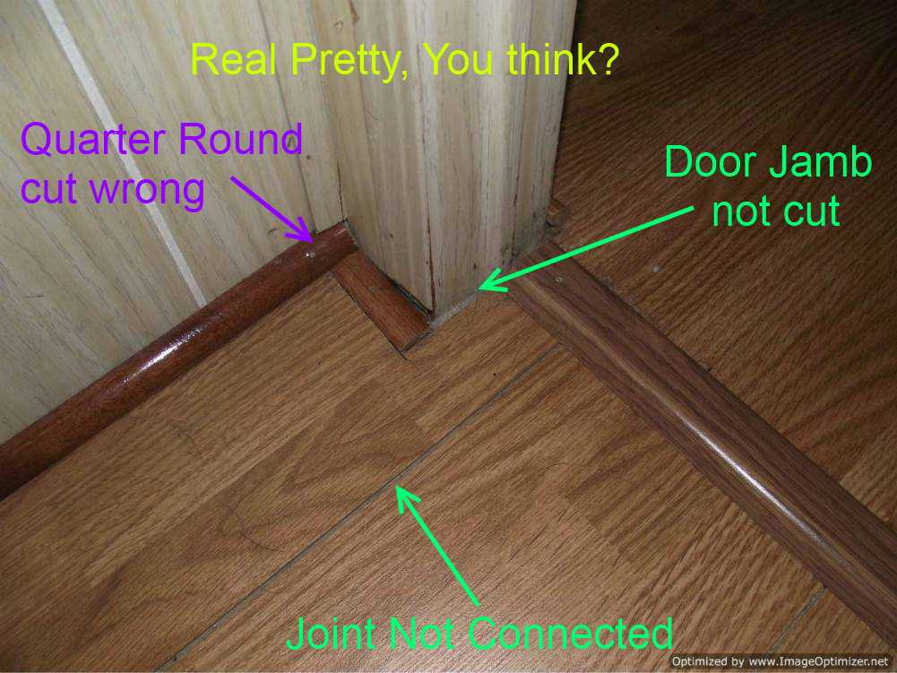 how to install quarter round on laminate