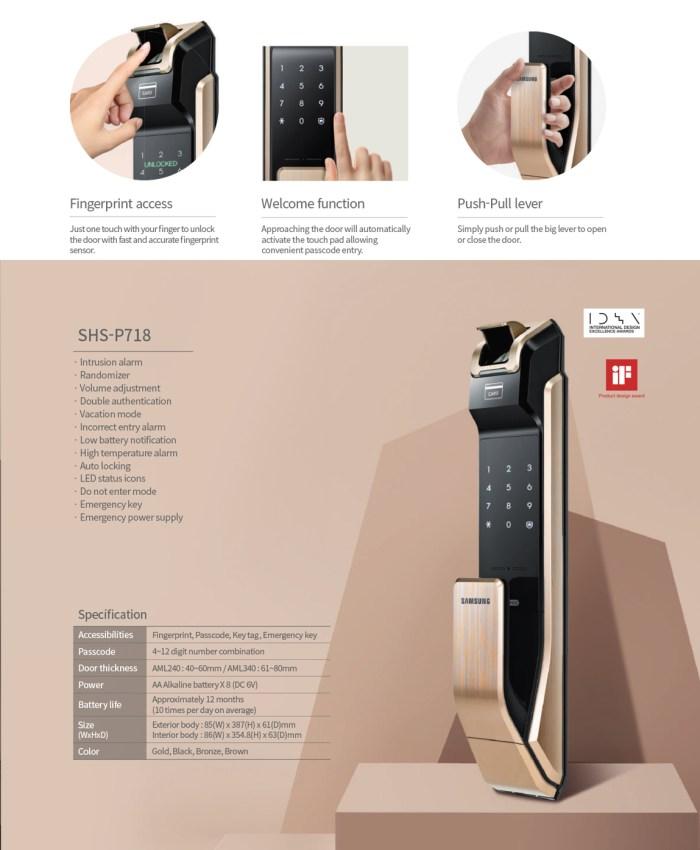 Samsung SHS-P718 Digital Door Lock