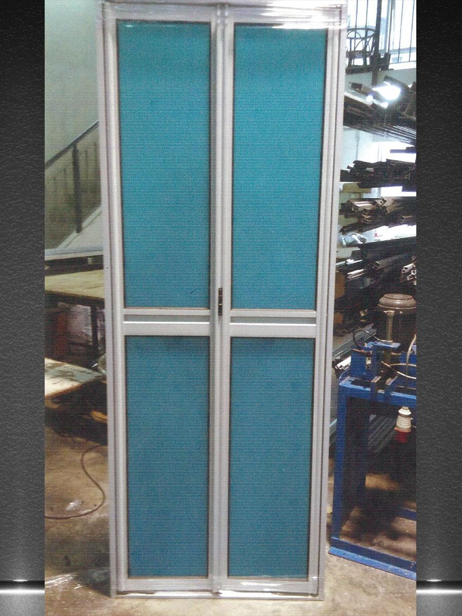 Aluminum PVC Bi-fold Toilet Door – HDB116