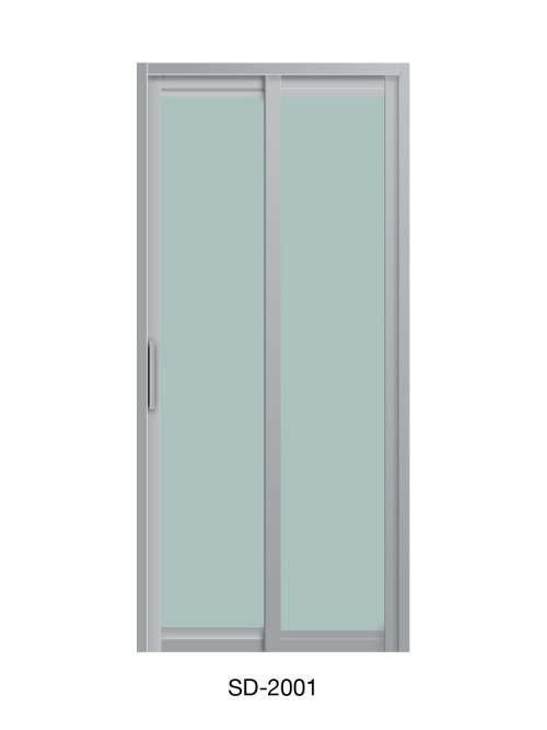 PVC Slide & Swing Toilet Door SD-2001