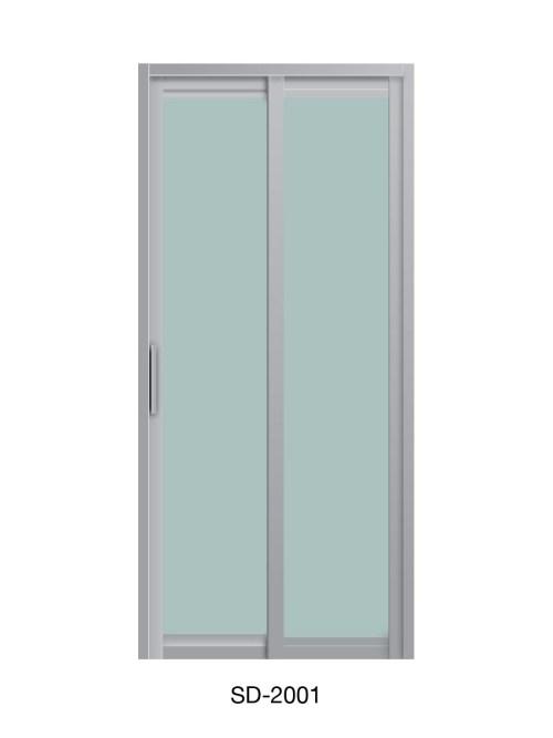 PVC Slide & Swing Toilet Door SD-2001