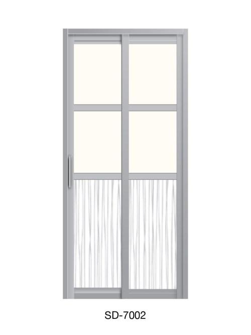 PVC Slide & Swing Toilet Door SD-7002
