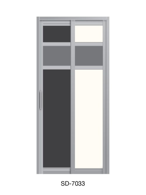 PVC Slide & Swing Toilet Door SD-7033