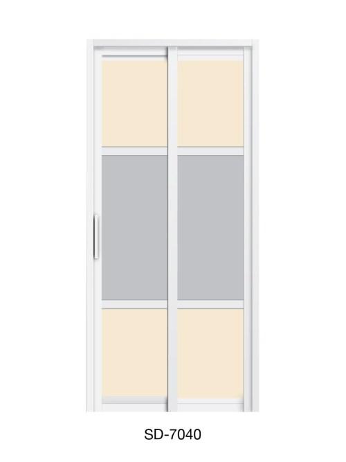 PVC Slide Swing Toilet Door SD-7040