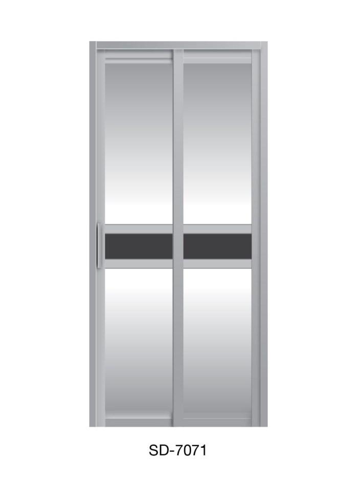 PVC Slide Swing Toilet Door SD-7071