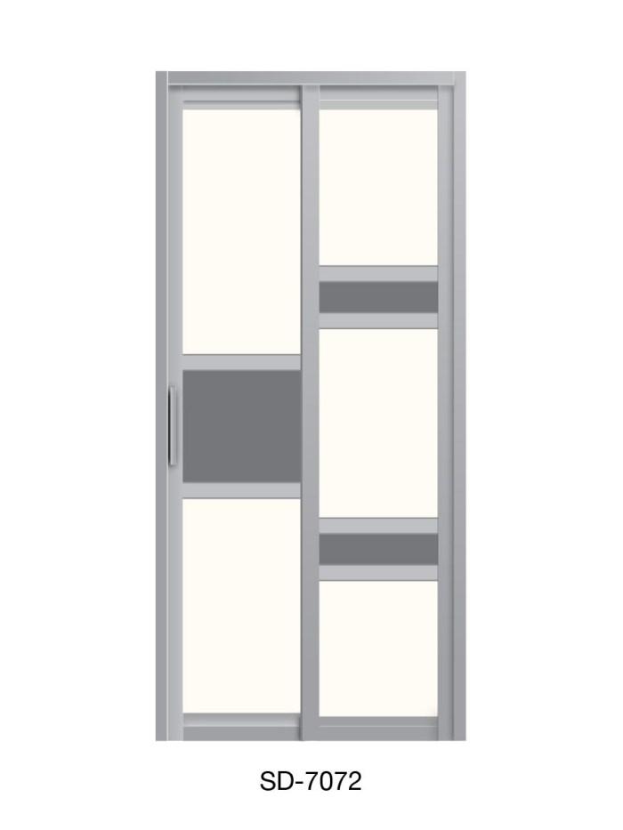 PVC Slide Swing Toilet Door SD-7072