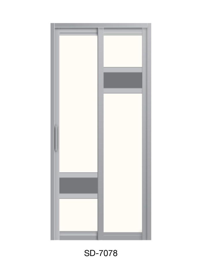 PVC Slide Swing Toilet Door SD-7078