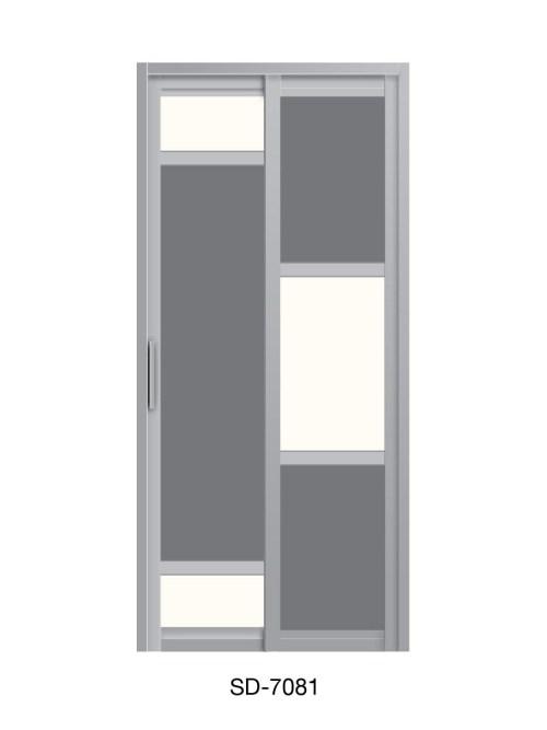 PVC Slide Swing Toilet Door SD-7081