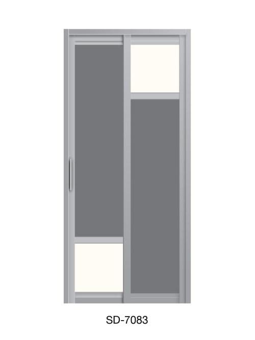 PVC Slide Swing Toilet Door SD-7083