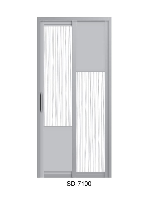 PVC Slide Swing Toilet Door SD-7100