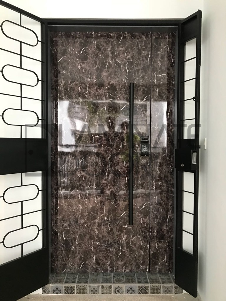 hdb fire rated main door crystallized design