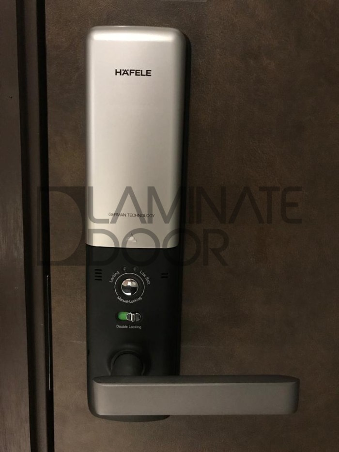 hafele digital lock el9000 back view