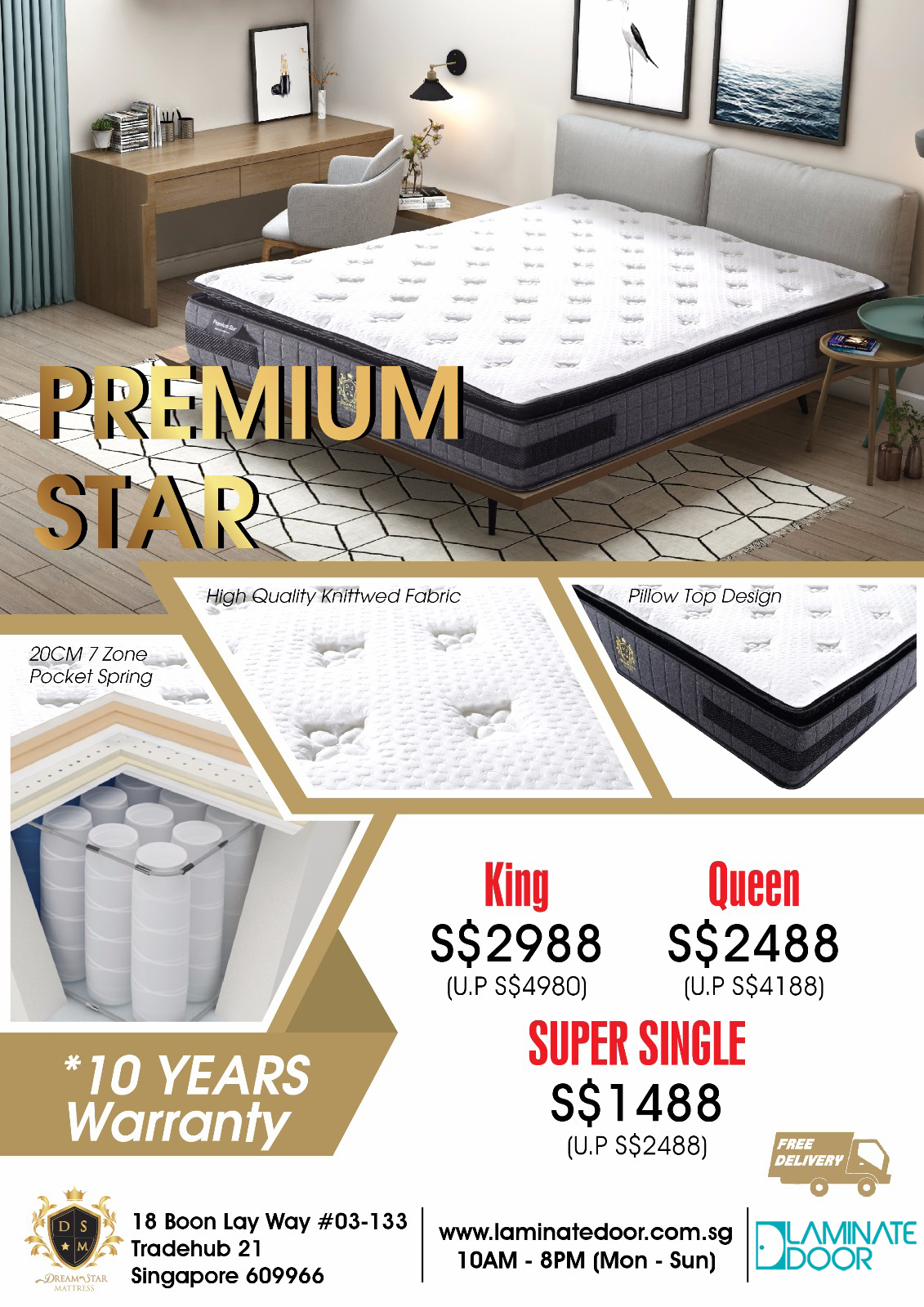 Hq Premium Mattress Collection in singapore