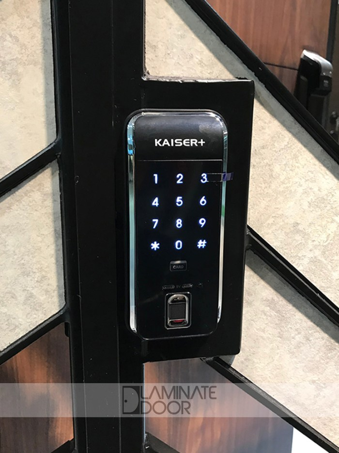 kaiser-digital-lock-install-for-HDB-metal-gate