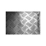 plaque en aluminium striee a damier