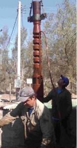 Cobre utilizado en bombas de riego agrícola