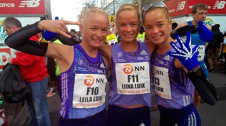 Unas trillizas correrán el maratón olímpico
