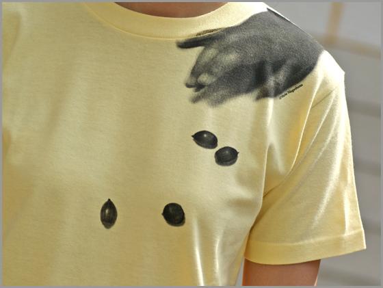 長島有里枝アートグッズ「どんぐりころころ Tシャツ」
