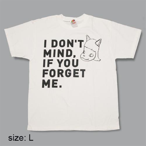 奈良美智 Tシャツ [I don't mind, if you forget me(ブラック)]
