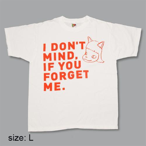 奈良美智 Tシャツ [I don't mind, if you forget me(レッド)]