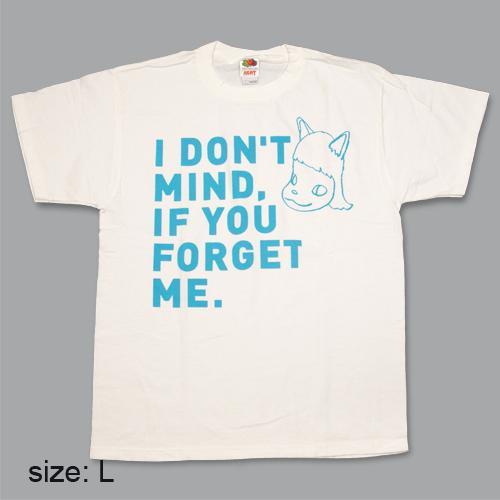 奈良美智 Tシャツ [I don't mind, if you forget me(ブルー)]