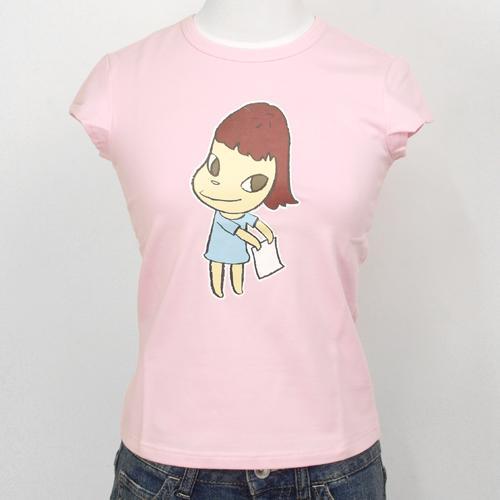 奈良美智 女性用Tシャツ [TAIPEI MOCA(ピンク)]