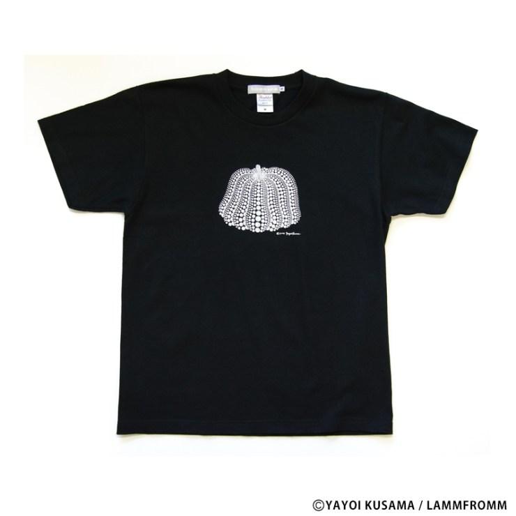 草間彌生 Tシャツ [かぼちゃ(ブラックx白)]