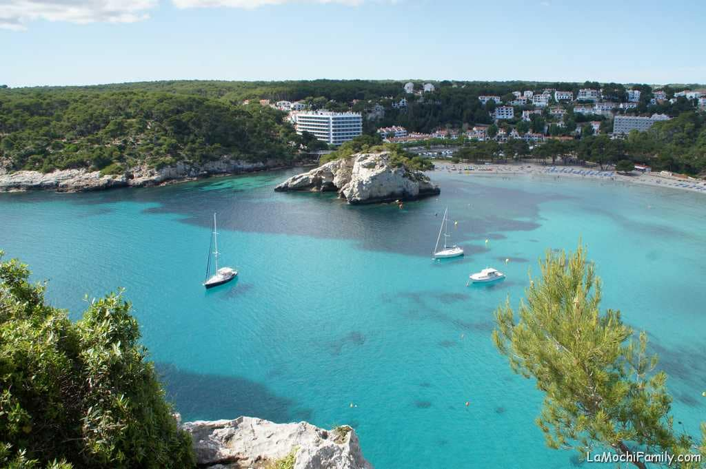 Cala Galdana mejor playa familiar de Menorca