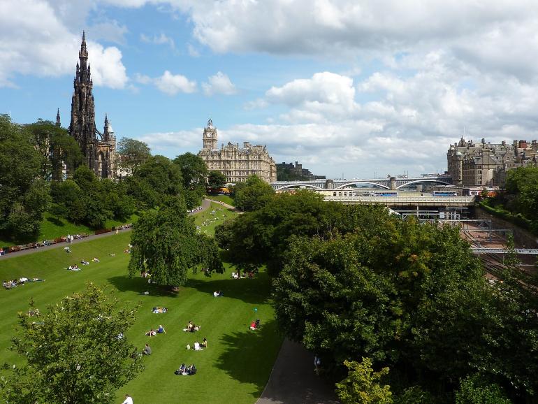 Vista de los princess street gardens